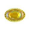 Resin Sew-on Piikki Stones 10pcs 20x30mm Oval Citrine Aurora Borealis